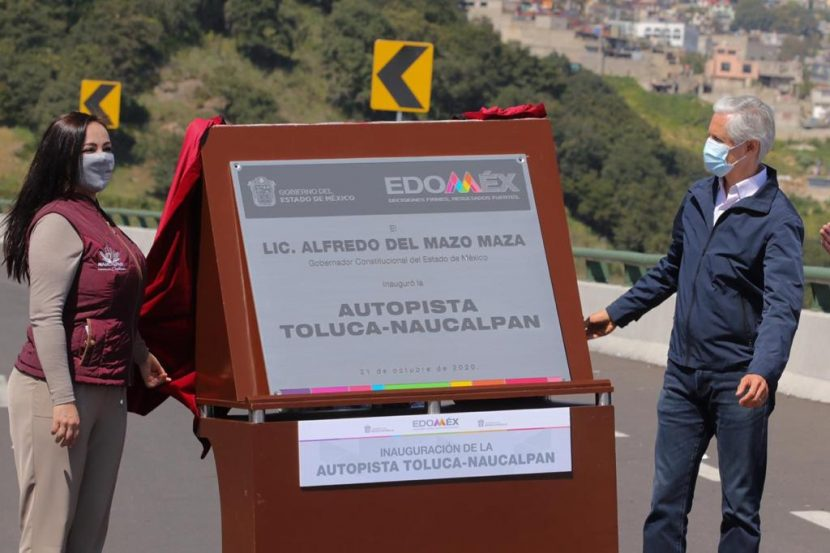 INAUGURARON ALFREDO DEL MAZO Y PATRICIA DURÁN AUTOPISTA NAUCALPAN-TOLUCA