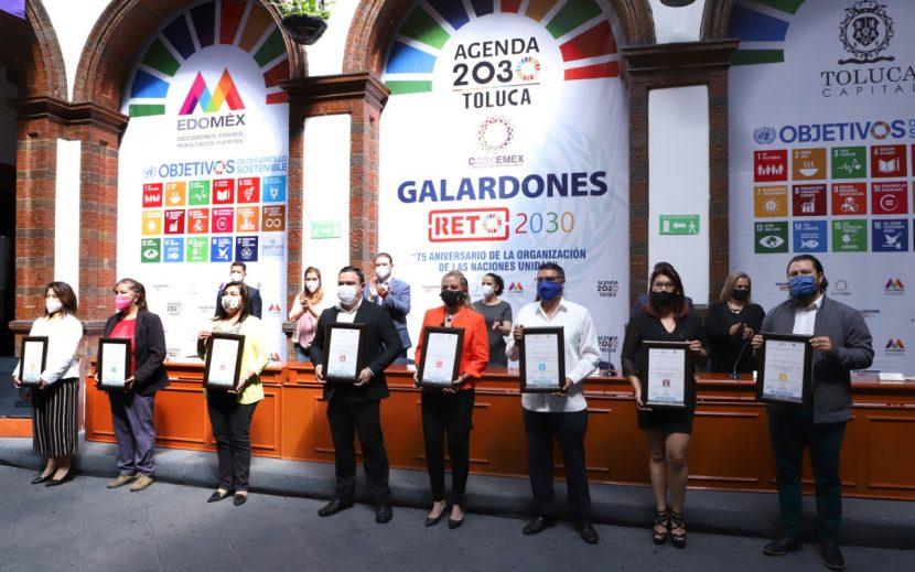 TOLUCA ENTREGA GALARDONES A LOS MEJORES PROYECTOS ALINEADOS A LA AGENDA 2030