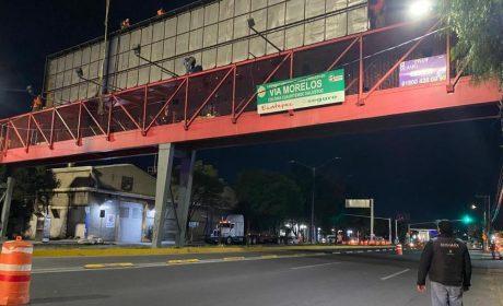 RETIRA EDOMÉX PUBLICIDAD EXTERIOR INSTALADA EN INFRAESTRUCTURA PÚBLICA