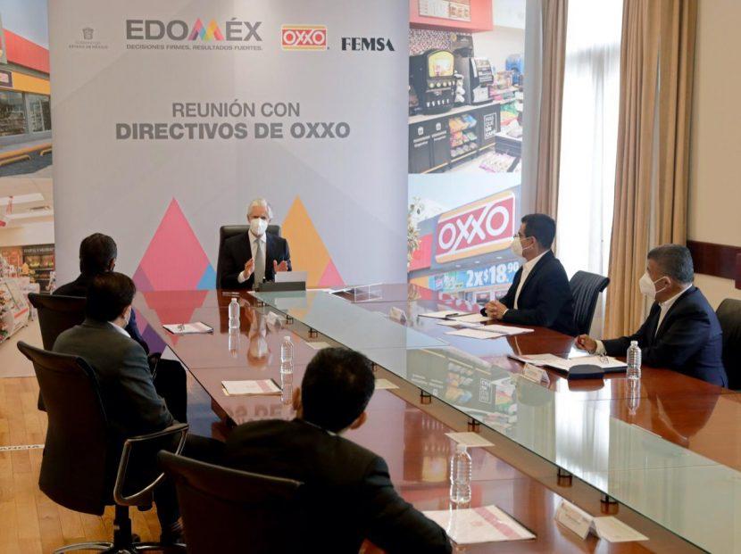 SE REÚNE ALFREDO DEL MAZO CON EMPRESARIOS DE LA CADENA OXXO Y FEMSA