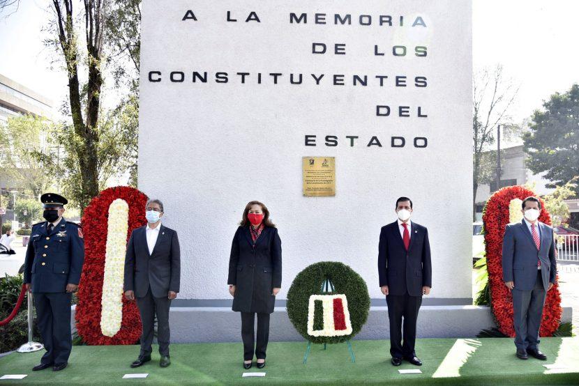 CONMEMORAN PODERES PÚBLICOS EL 103 ANIVERSARIO DE LA CONSTITUCIÓN ESTATAL
