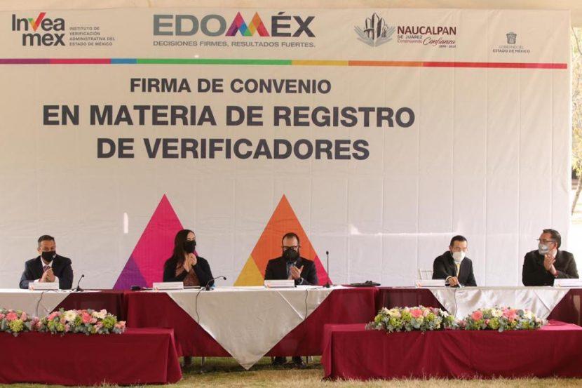 FIRMAN NAUCALPAN E INVEAMEX CONVENIO PARA REGULAR INSPECTORES