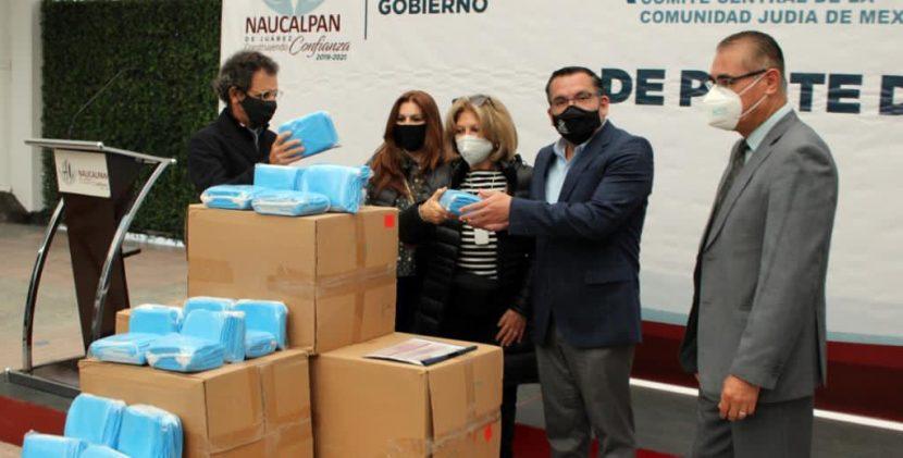 DONA COMUNIDAD JUDÍA 50 MIL CUBREBOCAS PARA NAUCALPAN