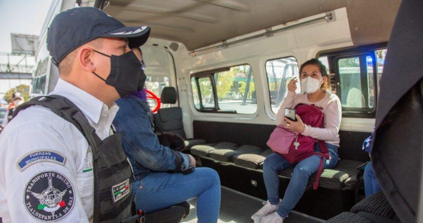 REFUERZA TLALNEPANTLA OPERATIVOS DE SEGURIDAD EN TRANSPORTE