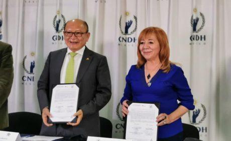 CNDH Y CONALEP FIRMAN CONVENIO PARA PROMOVER LOS DERECHOS HUMANOS