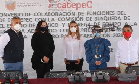 ENTREGA EDOMÉX EQUIPAMIENTO A CÉLULA DE BÚSQUEDA DE ECATEPEC