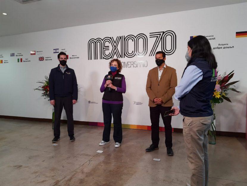 PRESENTAN EXPOSICIÓN DEL MUNDIAL DE FUTBOL MÉXICO 70 EN EL CCMBICENTENARIO