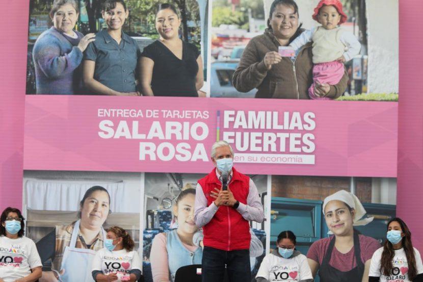 LLEGA SALARIO ROSA A FAMILIAS DE FORMA PERMANENTE: ALFREDO DEL MAZO