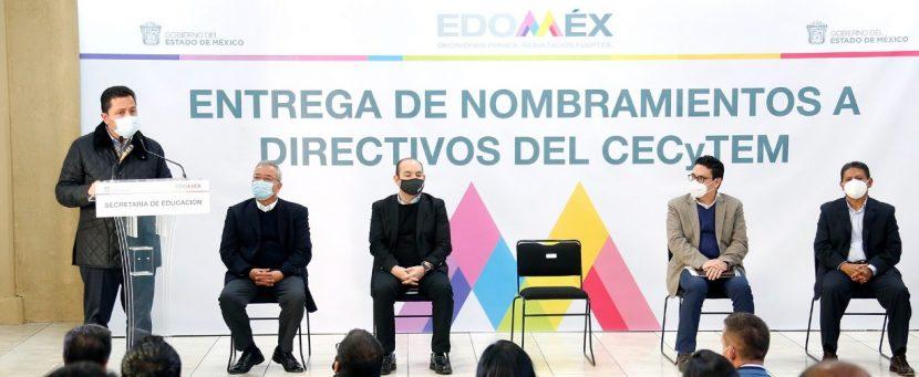 BRINDAN CERTEZA JURÍDICA Y LABORAL A PERSONAL DIRECTIVO DE CECYTEM