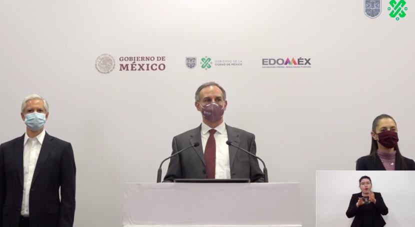 ANUNCIAN SEMÁFORO ROJO PARA EL EDOMEX Y CIUDAD DE MÉXICO