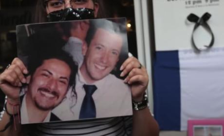 FAMILIARES Y AMIGOS PROTESTAN POR EL ASESINATO DE BAPTISTE JACQUES
