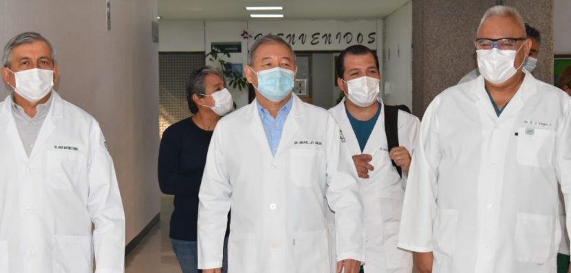 SUPERVISAN ZONA COVID DEL HOSPITAL GENERAL IMSS DE TLALNEPANTLA