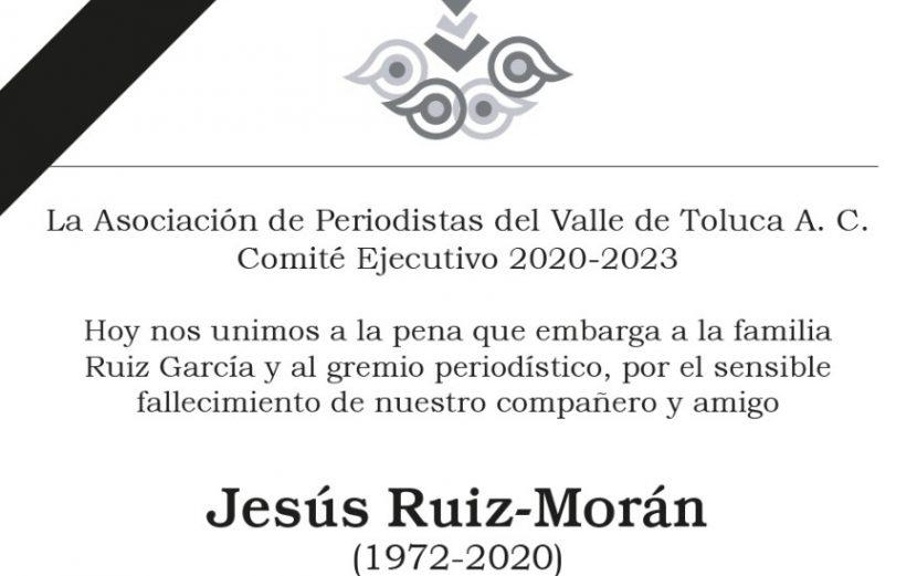 LAMENTA LA APVT LA MUERTE DEL PERIODISTA JESÚS RUIZ-MORÁN