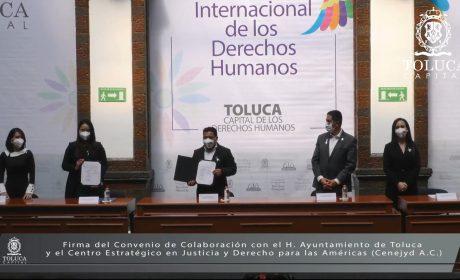 FIRMA GOBIERNO MUNICIPAL CONVENIO DE COLABORACIÓN CON CENEIVD A.C.