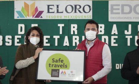 """OTORGAN AL PUEBLO MÁGICO DE EL ORO SELLO """"SAFE TRAVELS"""""""