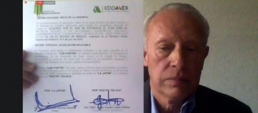 CONVENIO DE COLABORACIÓN JAPEM Y ASOCIACIÓN EXATEC VALLE DE TOLUCA