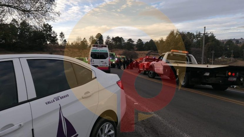 ACCIDENTE EN LA TOLUCA-ZITÁCUARO DEJA UN TAXISTA SIN VIDA