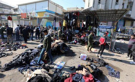 32 MUERTOS DEJA UN ATAQUE TERRORISTA SUICIDA EN UN MERCADO DE BAGDAD