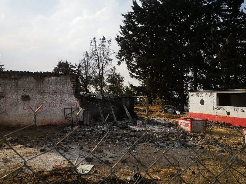 EXPLOTA EN ALMOLOYA EN TALLER DE PIROTECNIA, HAY UN HERIDO