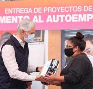 ALFREDO DEL MAZO APOYA PROGRAMA DE AUTOEMPLEO
