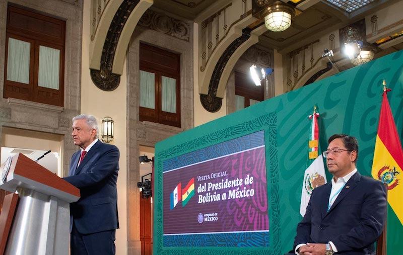 AMLO RECIBE AL PRESIDENTE DE BOLIVIA LUIS ARCE CATACORA