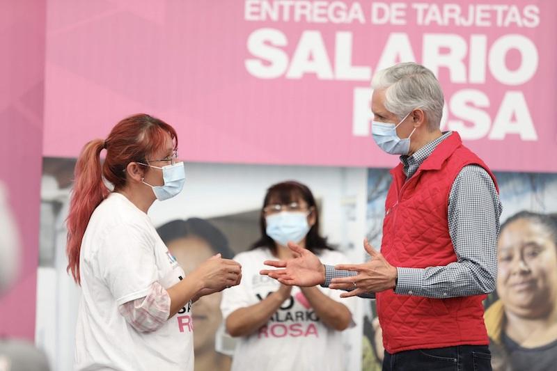 ALFREDO DEL MAZO ENTREGA SALARIO ROSA EN AMECAMECA