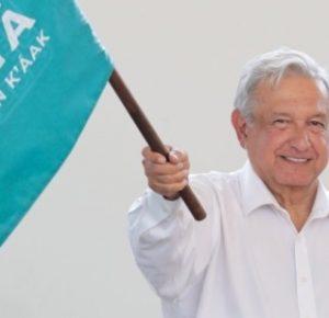 AMLO PONE EN MARCHA EL TRAMO 5 DEL TREN MAYA