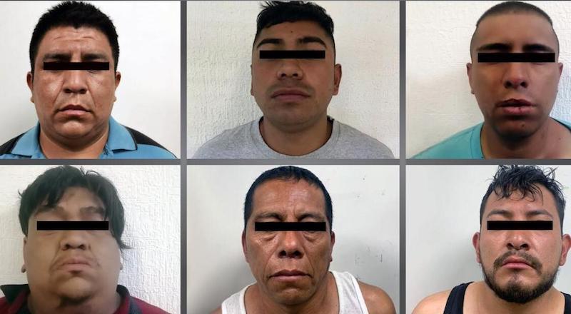 ARRESTAN A 6 SUJETOS POR DIVERSOS DELITOS EN CHIMALHUACÁN