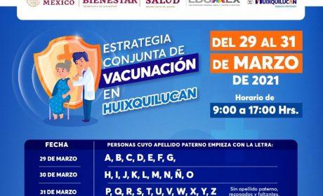 ESTE LUNES, HUIXQUILUCAN INICIA VACUNACIÓN CONTRA COVID-19