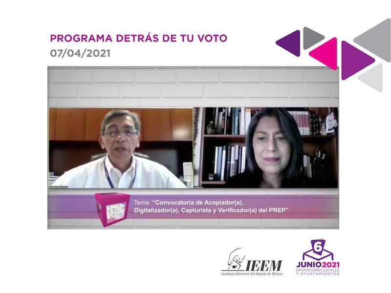 JORNADA ELECTORAL SERÁ VIGILADA POR EL PREP: IEEM