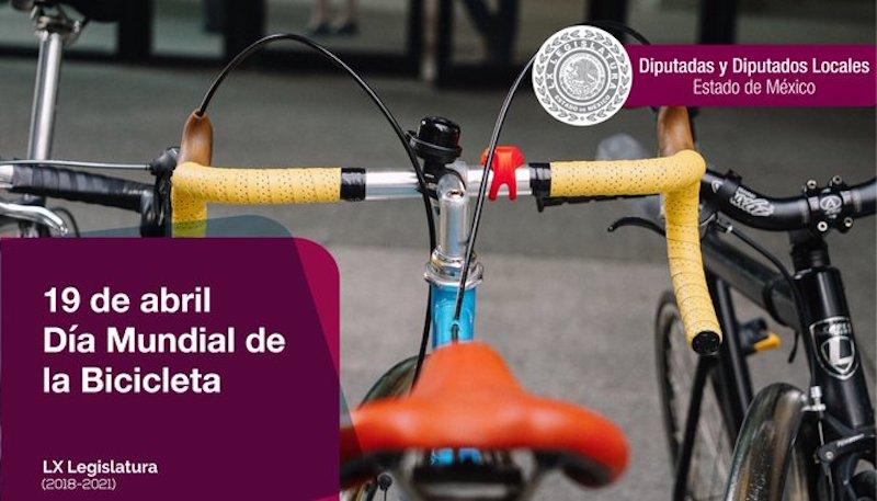 LEGISLATURA EDOMÉX CONMEMORA DÍA MUNDIAL DE LA BICICLETA