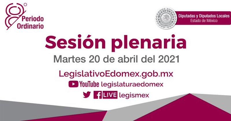 SESIÓN PLENARIA DE LA LEGISLATURA MEXIQUENSE