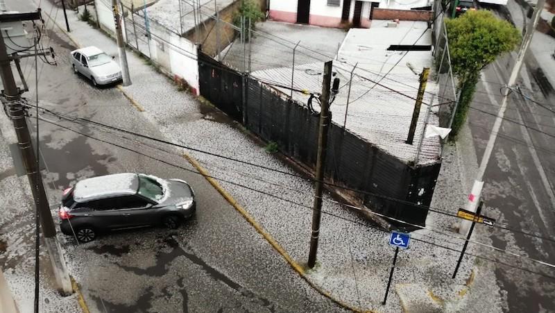 GRAN GRANIZADA EN TOLUCA Y ZINACANTEPEC EL DÍA DE AYER