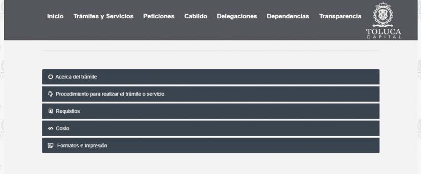 ES POSIBLE APARTAR TRÁMITES Y SERVICIOS EN PÁGINA WEB DE TOLUCA