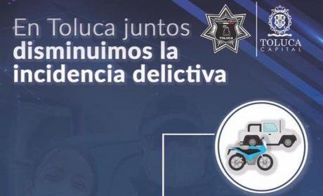 DISMINUYE TOLUCA EN 20% LA COMISIÓN DE DELITOS