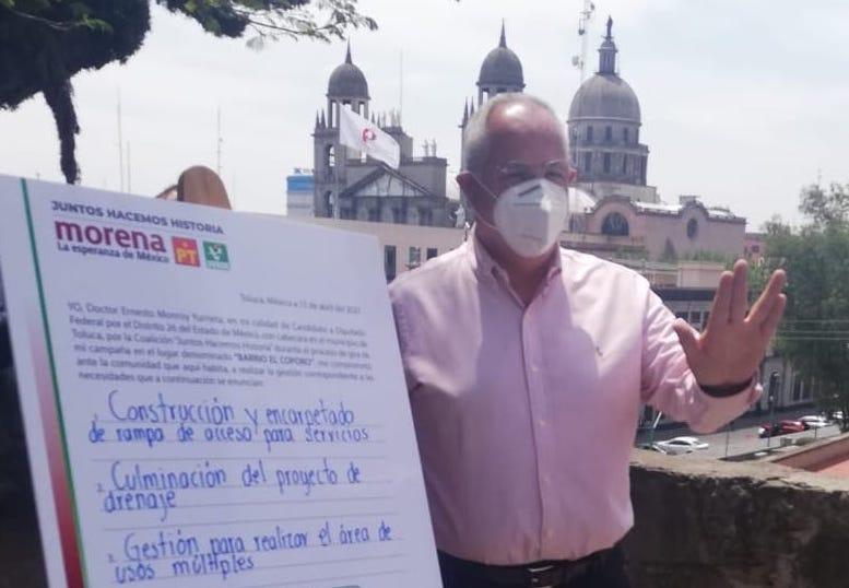 """ERNESTO MONROY FIRMA COMPROMISOS CON """"EL CÓPORO"""""""