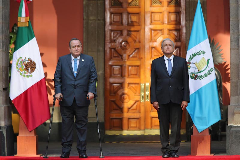 AMLO RECIBE AL PRESIDENTE DE GUATEMALA