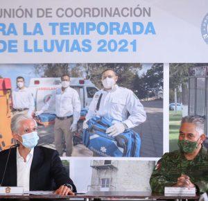 INSTRUYE ALFREDO DEL MAZO A DEPENDENCIAS PARA AFRONTAR LAS LLUVIAS