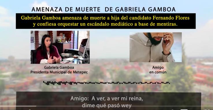 GABRIELA GAMBOA, AMENAZA A HIJA DEL CANDIDATO PRIISTA A ALCALDÍA