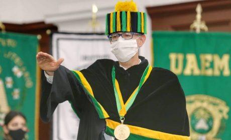 DOCTOR CARLOS EDUARDO BARRERA DÍAZ ASUMIÓ RECTORÍA DE UAEM