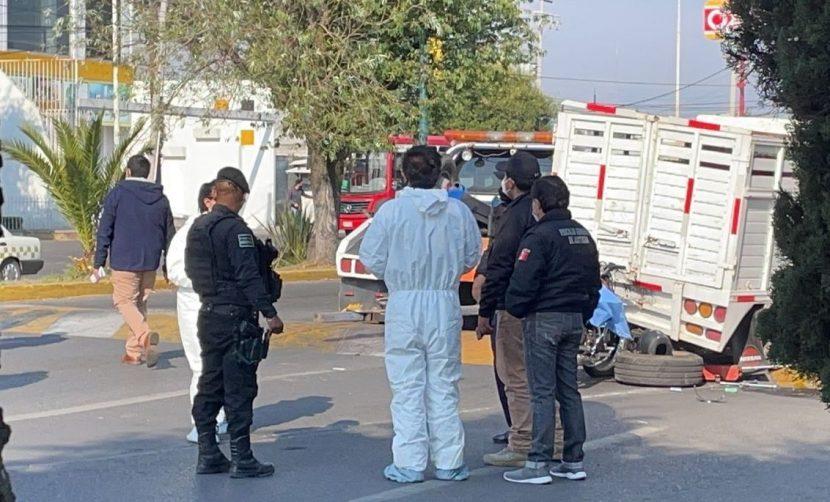 ACCIDENTE DEJA SALDO DE UN MOTOCICLISTA MUERTO EN ZINACANTEPEC