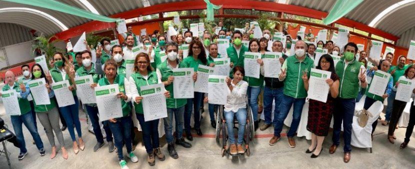 PVEM FIRMA COMPROMISO PARA MEJORA CALIDAD DE VIDA DE MEXIQUENSES