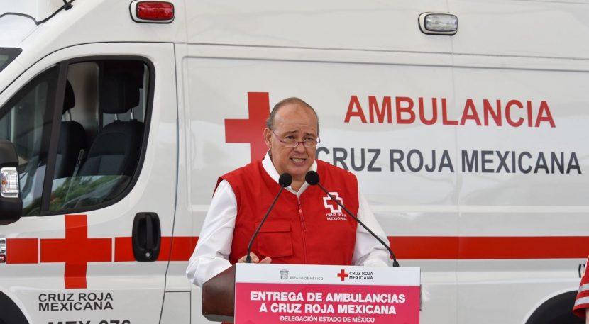RECIBE CRUZ ROJA EN EDOMEX DOS NUEVAS AMBULANCIAS