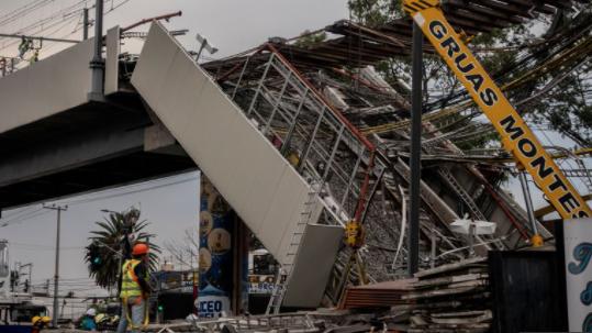 FALLAS ESTRUCTURALES OCASIONARON DESPLOME EN LÍNEA 12 DEL METRO
