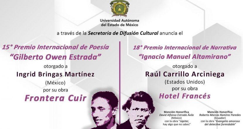 UAEM DEFINE GANADORES DE PREMIOS INTERNACIONALES DE LITERATURA