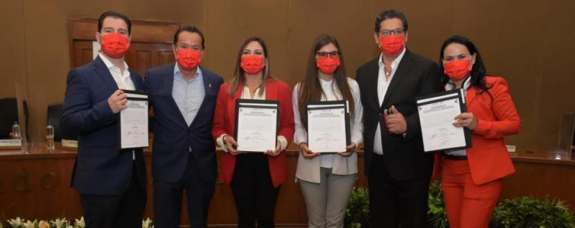 RECIBEN PRIISTAS CONSTANCIA COMO DIPUTADOS DE REPRESENTACIÓN PROPORCIONAL