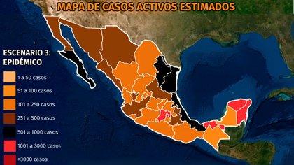 SE INCREMENTAN CONTAGIOS EN YUCATÁN, QUINTANA ROO, TABASCO Y BCS