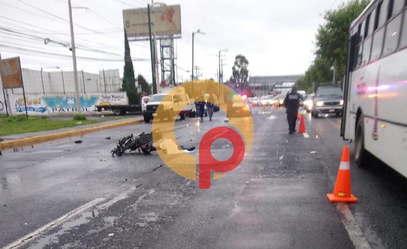 MOTOCICLISTA MUERE TRAS ACCIDENTE VIAL EN TOLUCA