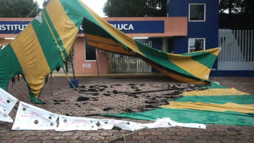 COMIENZA JORNADA CON GUERRA SUCIA EN METEPEC