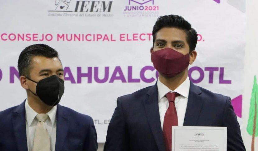 ADOLFO CERDA RECIBE CONSTANCIA DE MAYORÍA COMO ALCALDE ELECTO DE NEZAHUALCÓYOTL